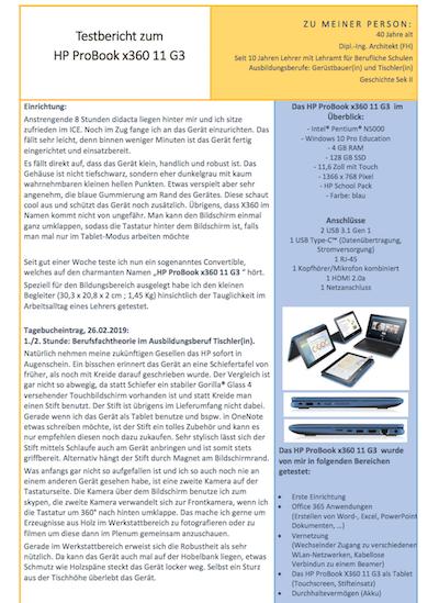 Testbericht zum HP ProBook x360 11 G3